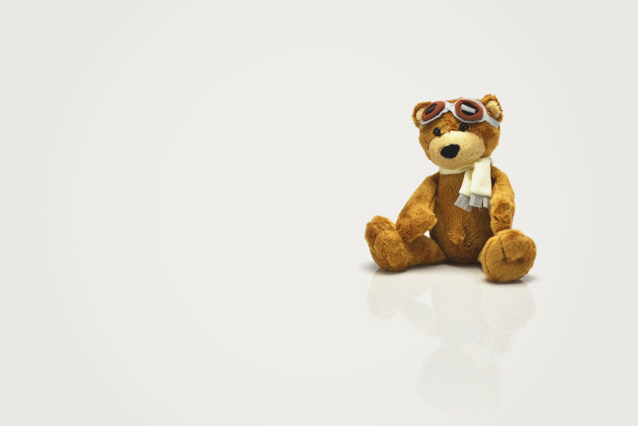 Picture of a stuffed animal bear