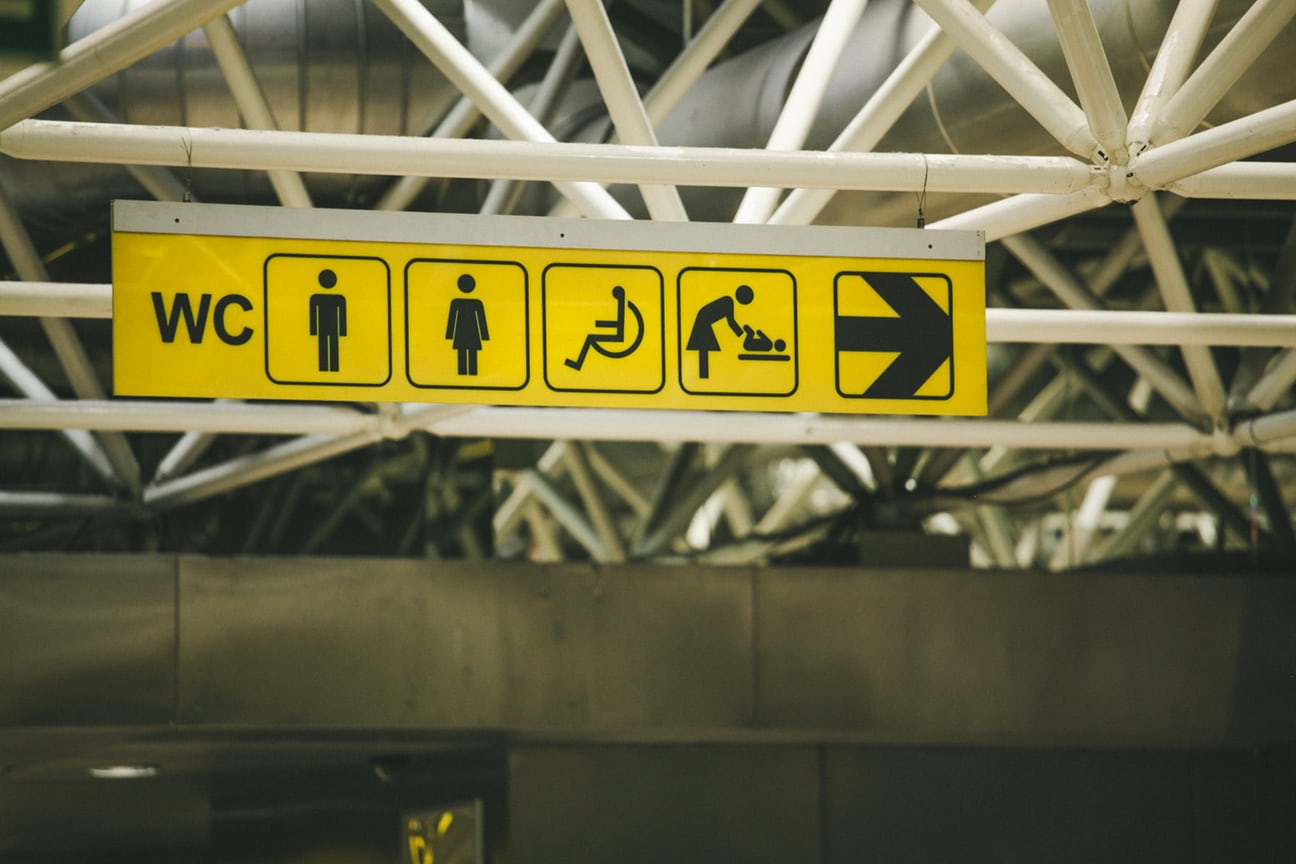 Image of bathroom signs